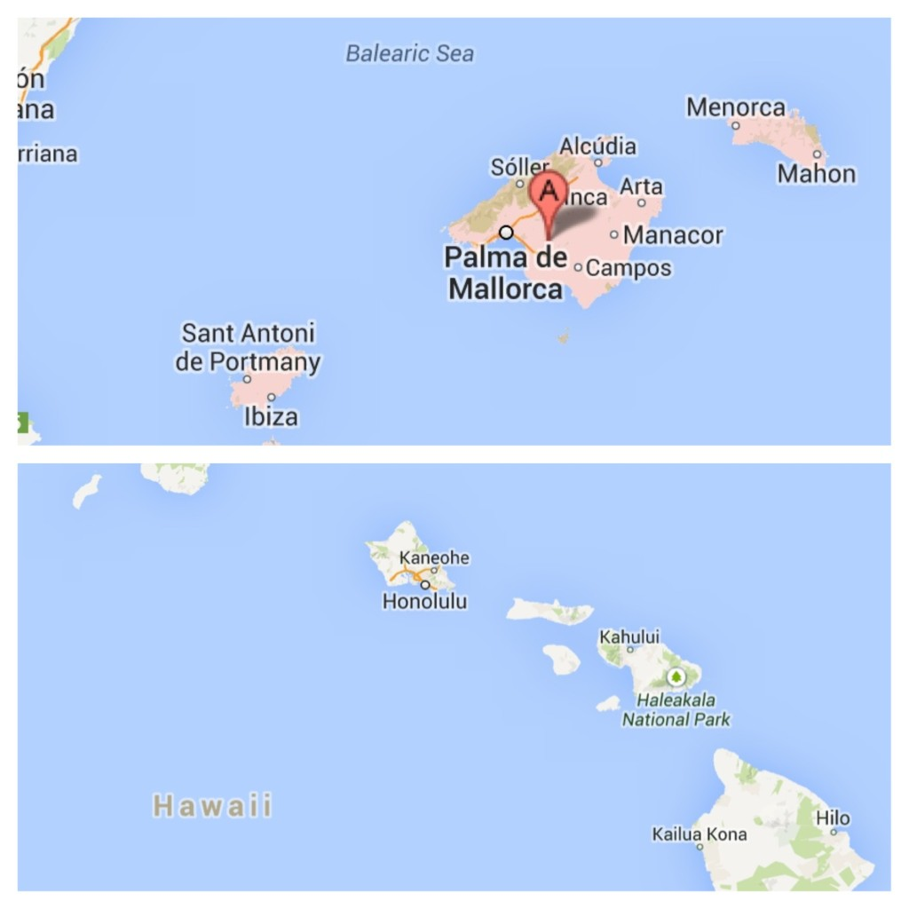 Mallorca and Oahu